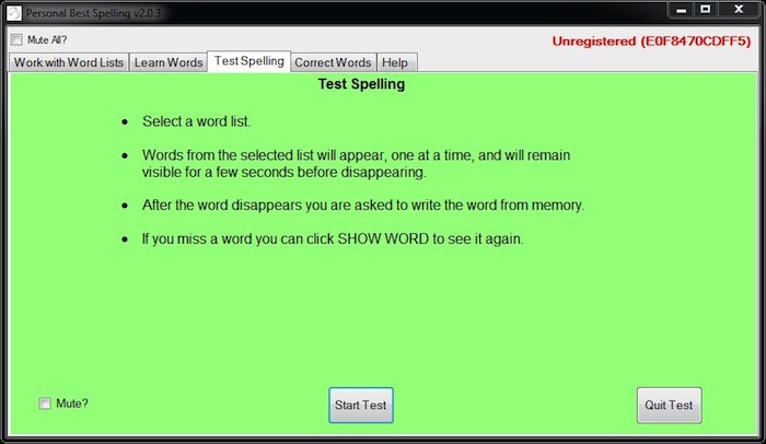 spelling program spelling test